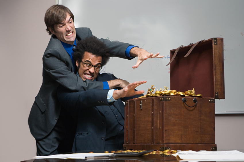 Colleagues fighting over money
