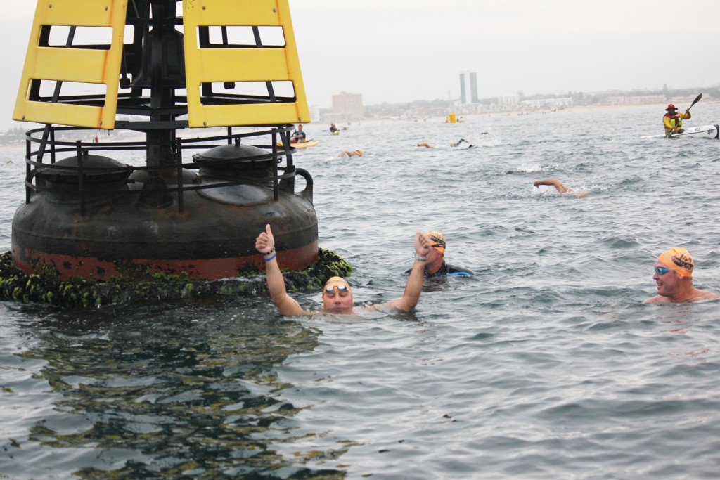 Swimmers Round Buoy
