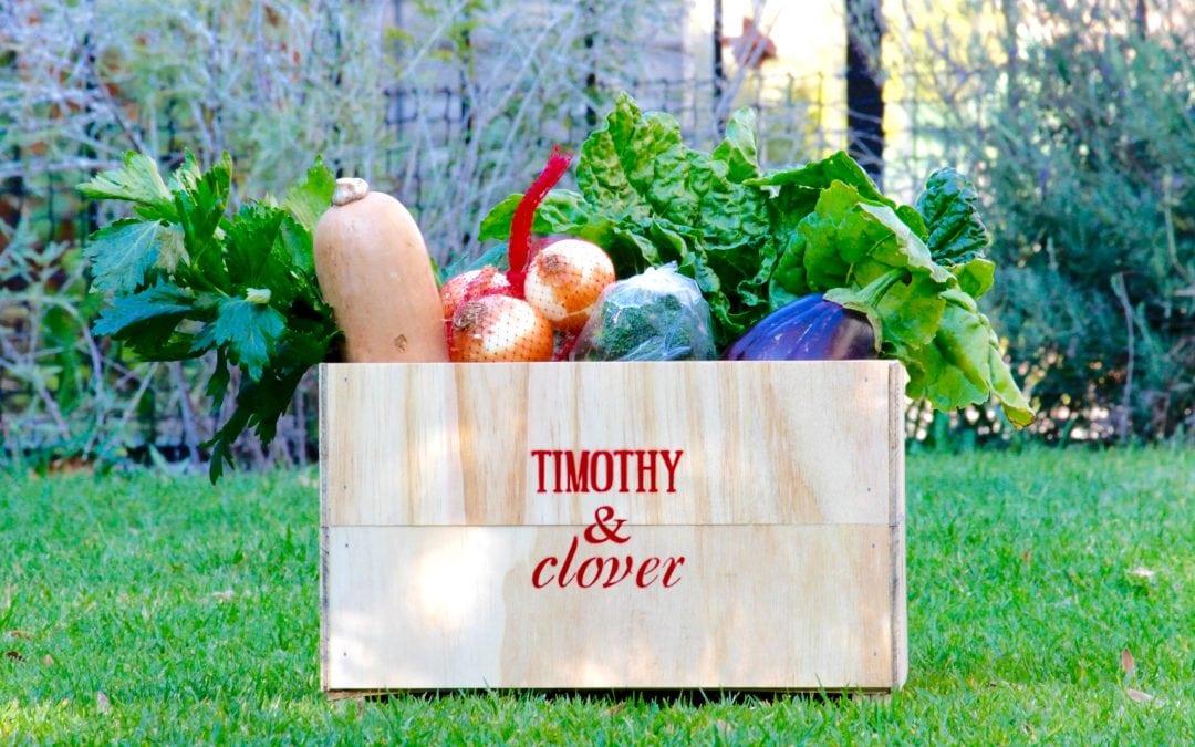 Timothy & Clover organic produce in Johannesburg