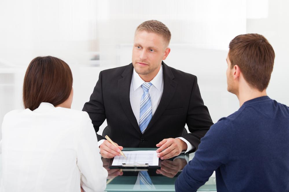 Couple Consulting Financial Advisor