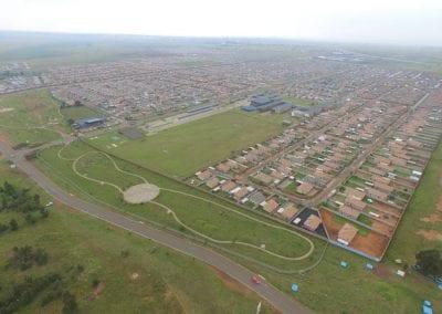 Aerial View of Sky City