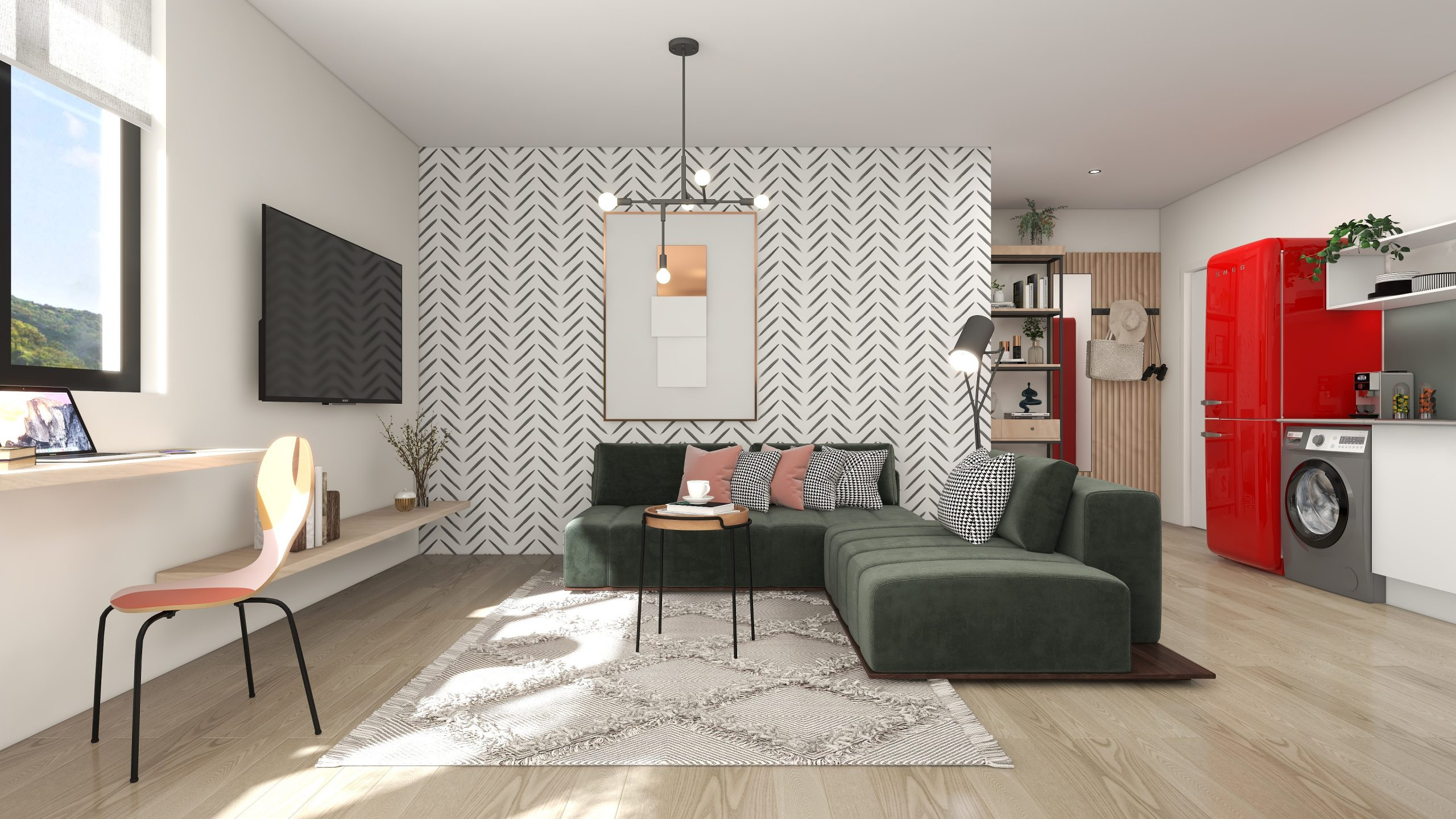 PineworX apartments interior